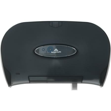 Acrylic Tissue Dispenser - Georgia-Pacific, GPC59206, Double Roll Bath Tissue Dispenser, 1 Each, Black