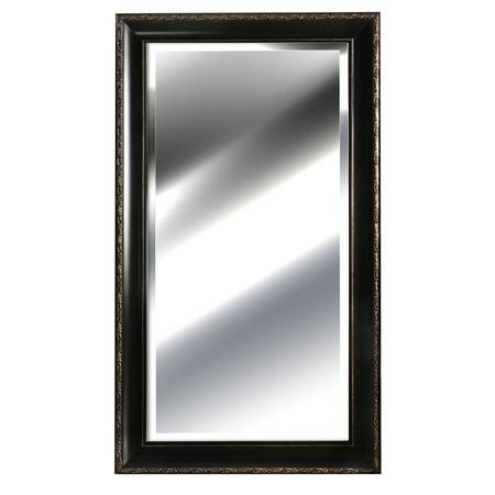 "Embossed Bronze Beveled Wall Mirror 24""x48"" by Nielsen Bainbridge"