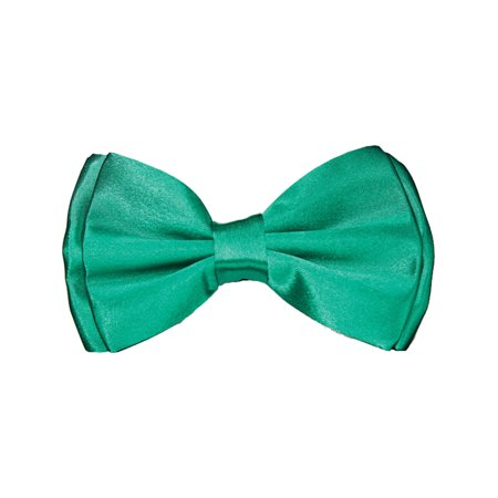 Adults Saint Patrick's Day Green Satin Bow Tie Costume Accessory - Saint Costume Ideas