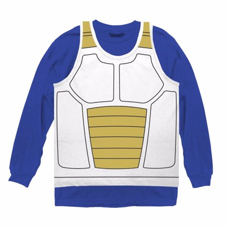 Vegeta Saiyan Armor Costume Officially Licensed Cosplay Shirt](Dragon Ball Z Halloween Costumes Vegeta)