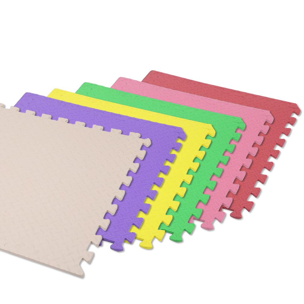 Foam Mat Floor Tiles,12 Tiles, 48 SQ.FT, Interlocking Ultimate Comfort EVA Foam, Soft Flooring for Exercising, Yoga, Kids, Babies, Playroom and Camping-Red