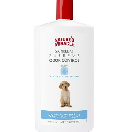 Nature's Miracle Odor Control Puppy Shampoo, Spring Waters Scent,
