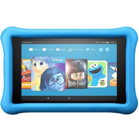 Amazon All New Fire 7 Kids Edition Tablet  7  Display  16 Gb  Blue Kid Proof Case   Blue  Black   16 Gb   1 Gb   Quad Core  4 Core  1 30 Ghz   Fire Os 5 3   1024 X 600   Wireless Lan   Bluetooth