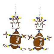 Creative Alternatives Dancing Girl American Football Earrings