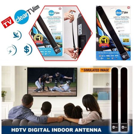 LESHP Clear TV Key HDTV FREE TV Digital Indoor Antenna Ditch Cable As Seen on TV
