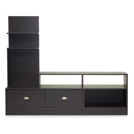 Whole Interiors Armstrong Dark Brown Modern Tv Stand For Tvs Up To 60