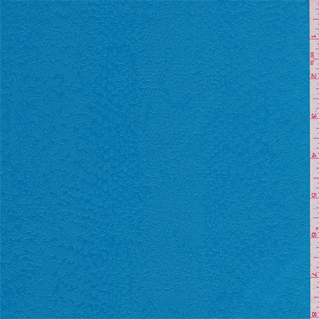 Aqua Blue Snakeskin Pleather Look, Fabric Sold By the Yard