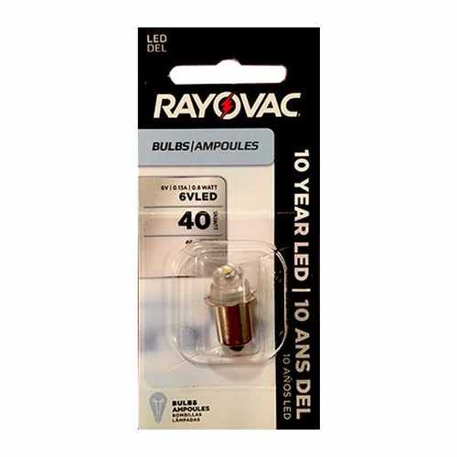 Rayovac LED Upgrade Bulb for 3-Cell, 4-Cell Flashlights and Lanterns 4V6VLED