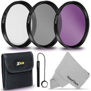 52MM Professional Lens Filter Set UV FLD CPL Filters + Accessories Kit (52mm)