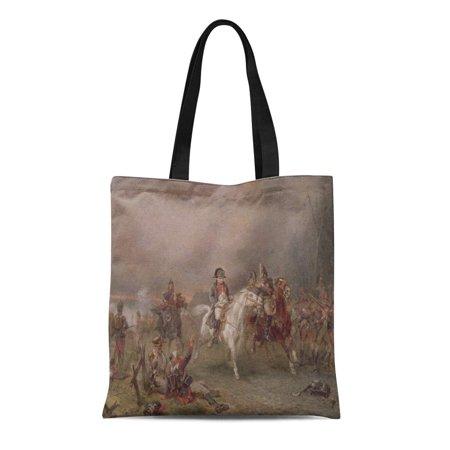 Alexander Mcqueen Handbags - ASHLEIGH Canvas Tote Bag Fine Napoleon Retreat on Hillingford Robert Alexander 1825 1904 Reusable Handbag Shoulder Grocery Shopping Bags
