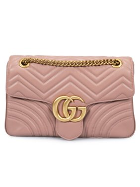 b1f2ae0e008 Product Image Gucci Marmont Leather Shoulder Bag in Dusty Pink