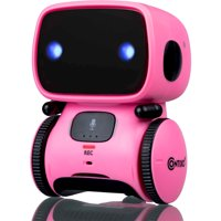 Contixo R1 Kids Smart Robot Toy Boys Girls | Talking Interactive Voice Controlled Touch Sensor Dancing Singing Voice Recorder Funny Humor Speech Recognition Infant Toddler Children Robotics (Blue)