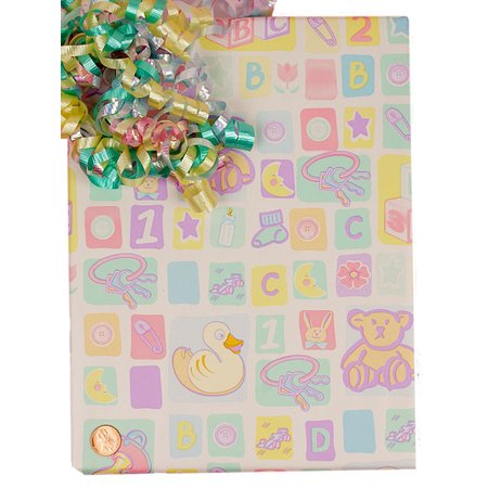 30 X 15 Baby Shower Gift Wrap By Paper Mart Walmart Com