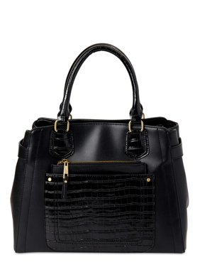 Time and Tru Multi Compartment Molly Satchel Bag