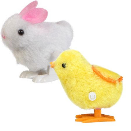 1PC Infant Child Toys Hopping Wind Up Easter Chick and Bunny