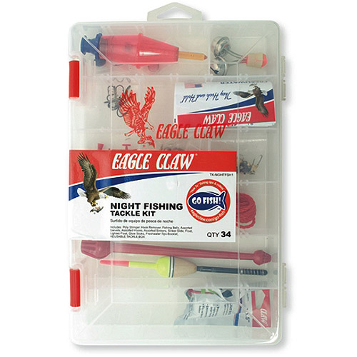 Eagle Claw Night Fishing Tackle Kit with Utility Box