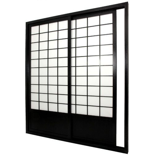 Oriental Furniture 83'' x 73.5'' Double Sided Sliding Door Room Divider