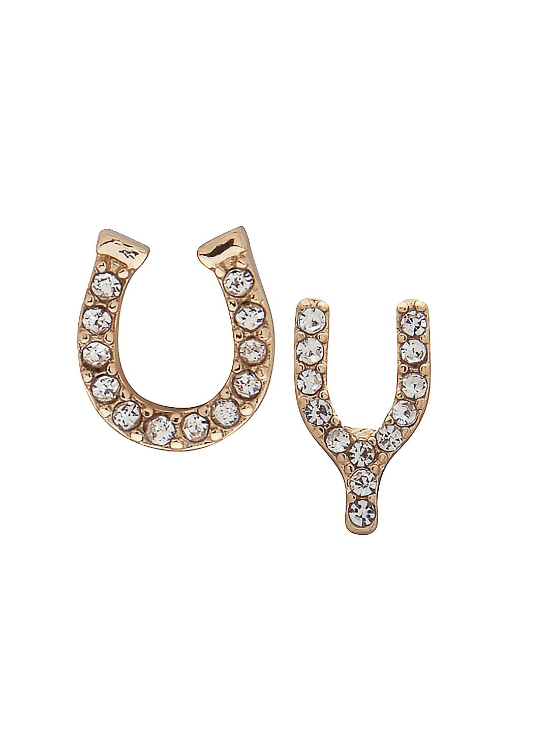 Mis-Match Goldtone Lucky Earrings