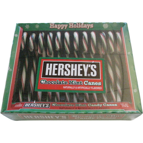 Hershey's Chocolate Mint Candy Canes, 12 count