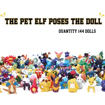 144PCS a Set Pokemon Toy Mini Action Figures Children's Doll Go Monster Toys Gift - image 2 of 6