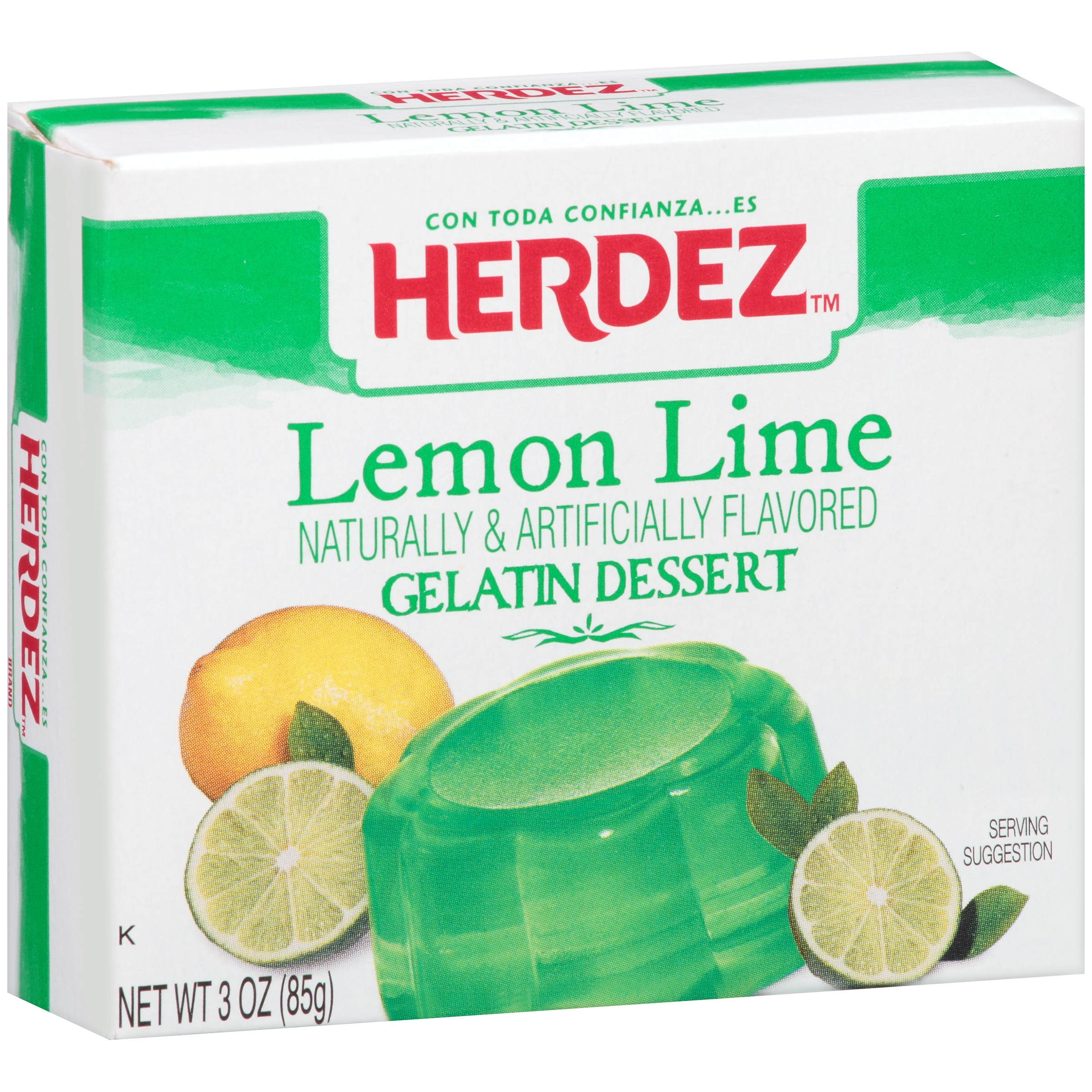 Herdez Lemon Lime Gelatin Dessert Mix, 3 oz by MEGAMEX FOODS, LLC