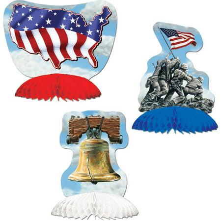 Beistle - 50979 - Patriotic Playmates- Pack of 12