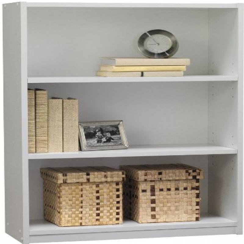 Ameriwood 3-Shelf Bookcase, White Stipple