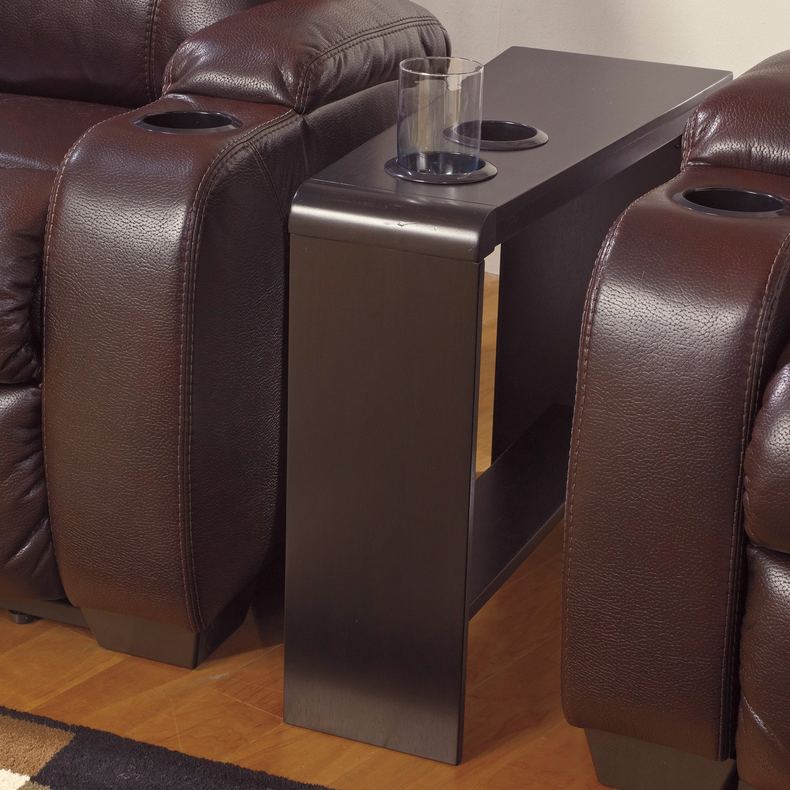 Signature Design By Ashley Carlyle Almost Black Chair Side End Table