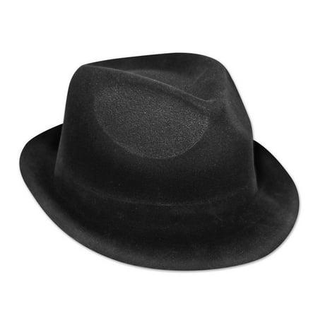 (Pack of 25) Beistle Velour Chairman Hat, Black - Velour Hat