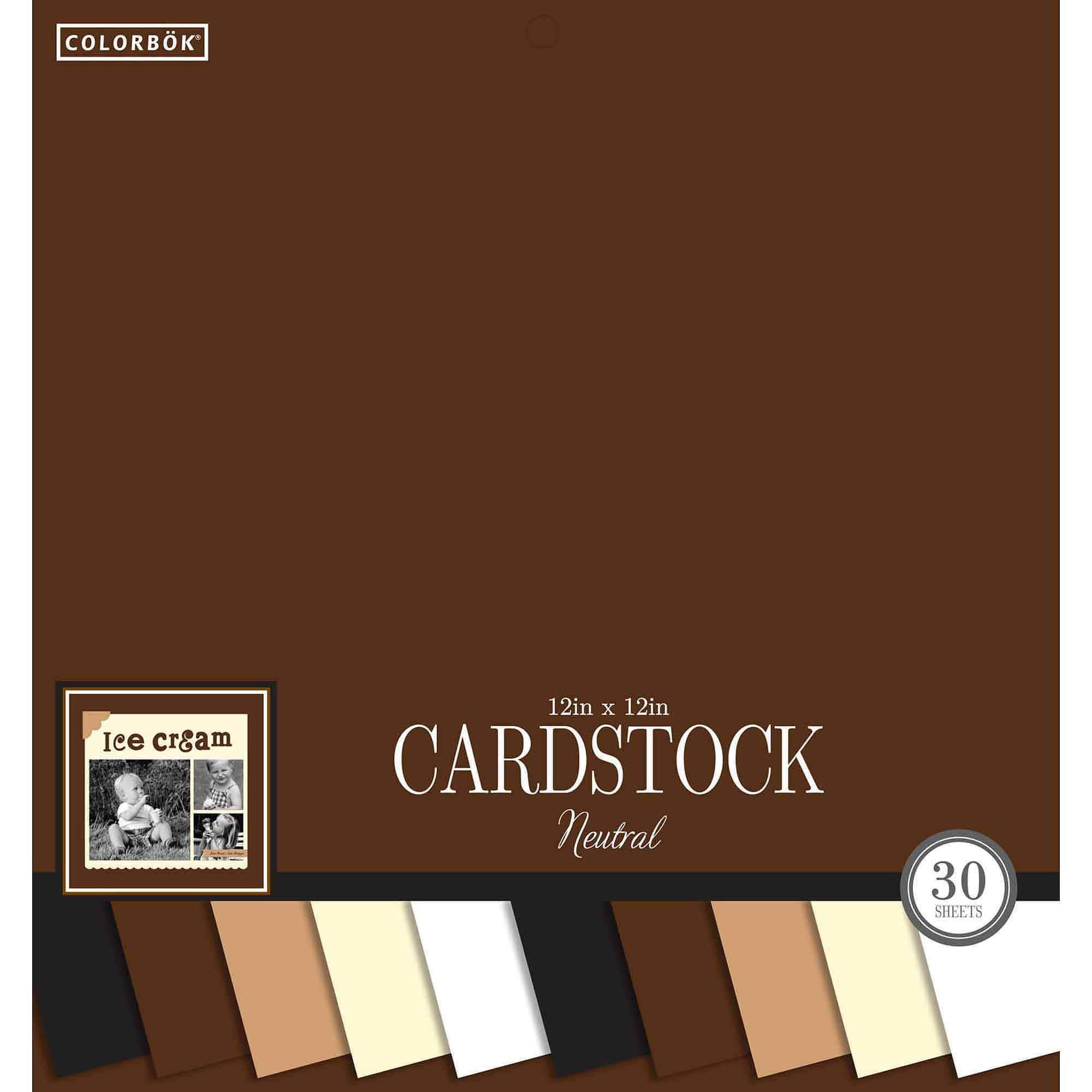 """Colorbok 12"""" Smooth Cardstock Neutral Pad"""