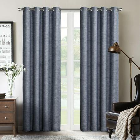 """SUN+BLK Blackout Grommet Curtain Panel Pair 52""""x84"""""""