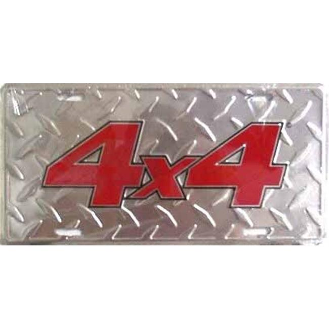 LP - 227 4 X 4 Diamond Plate License Plate - 2612