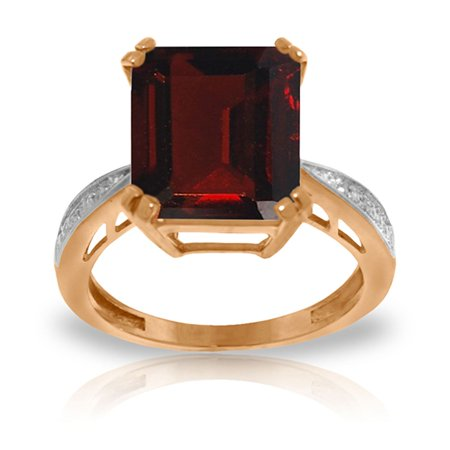 ALARRI 7.52 CTW 14K Solid Rose Gold Ring Natural Diamond Garnet With Ring Size 11.