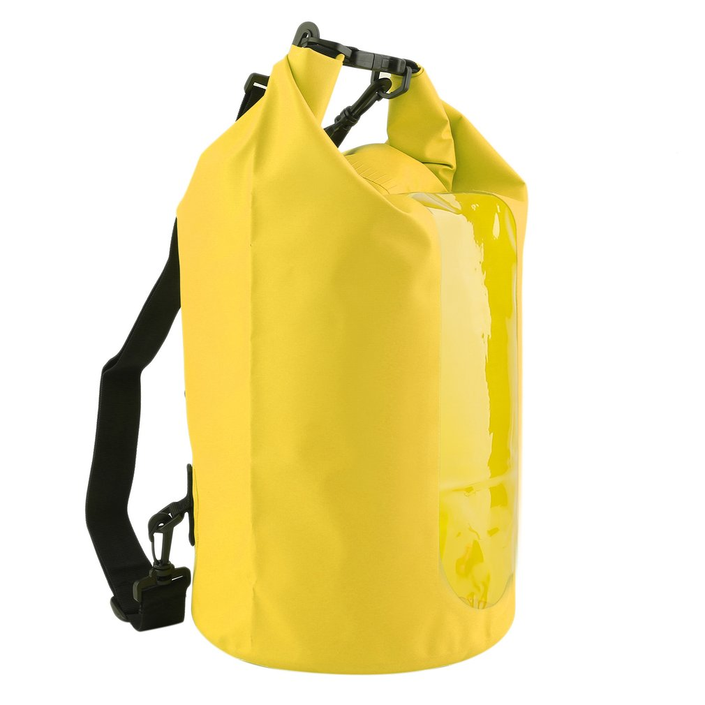 Yellow 30L Waterproof Dry Bag For Boating,Waterproof Dry Bag Roll Top Survival Sack Kit Dry Gear Bag Camping Equipment by readywellgo