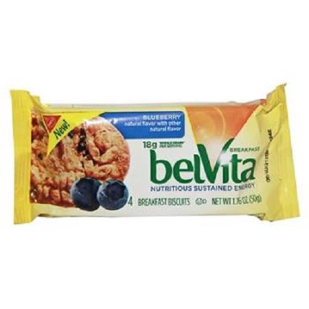 Product Of Belvita, Breakfast Biscuits - Blueberry, Count 8 (1.76 oz) - Granola/Cereal/Oat/Brkfast Bar / Grab Varieties &