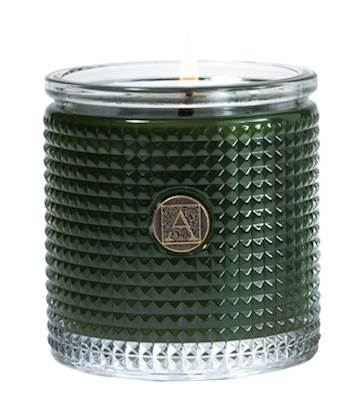SMELL OF THE TREE Aromatique Textured Glass Scented Jar Candle