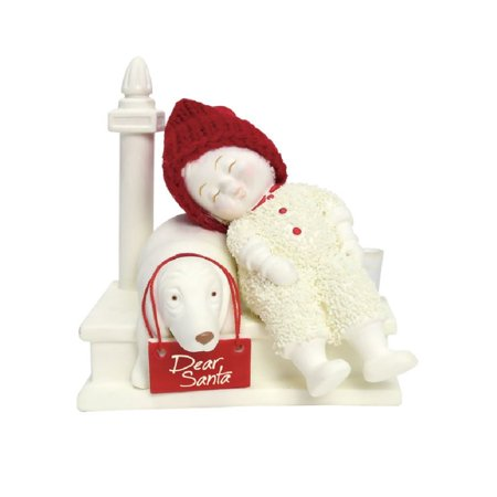 Snowbabies Classic Waiting for Santa Baby with Dog Christmas Figurine 6000840