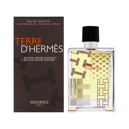 Terre D'Hermes by Hermes for Men 3.3 oz Eau de Toilette Spray H Bottle Limited Edition (Limited Edition Bottle)