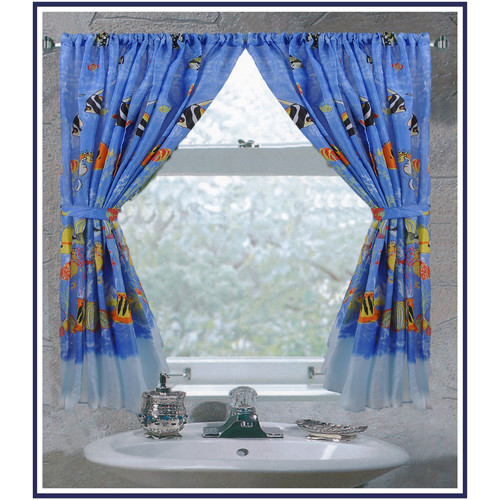 """Tropical Sea"" Fabric Window Curtain"