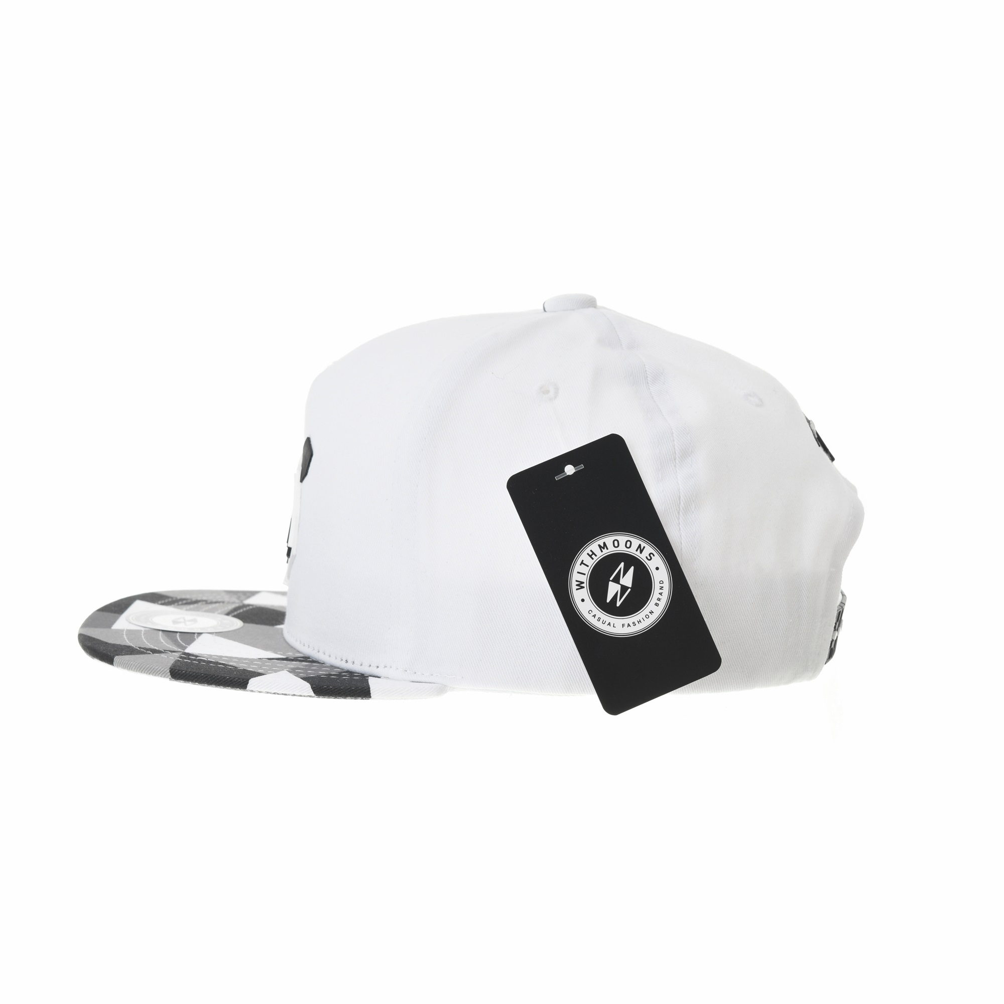 046529cae5d WITHMOONS Snapback Hat Panda Bear Paper Fold Patch Geometry Pattern Flat  Brim Cotton Baseball Cap TR2935 (Grey) - Walmart.com