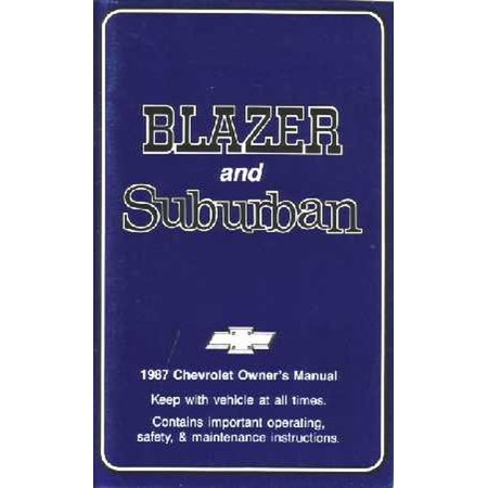 Bishko OEM Maintenance Owner's Manual Bound for Chevy Truck Blazer, Suburban 1987 06 Chevy Suburban Manual