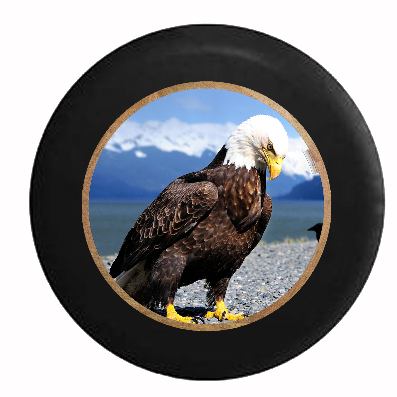 American Bald Eagle Mountain River Valley Jeep RV Camper ...