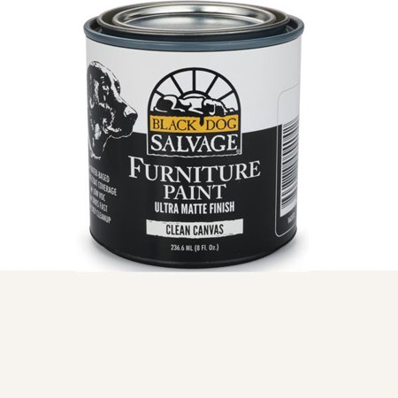 Black Dog Salvage Clean Canvas, White Furniture Paint, 1/2 Pint