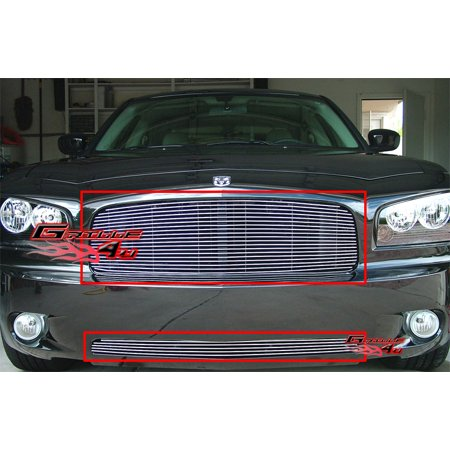 Compatible with 05-10 Dodge Charger Billet Grille Combo