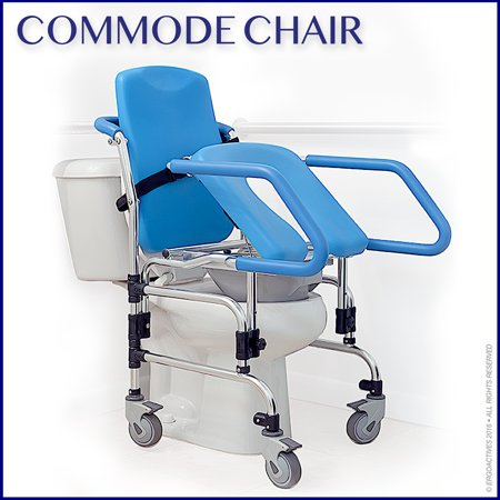 how to sit on commode