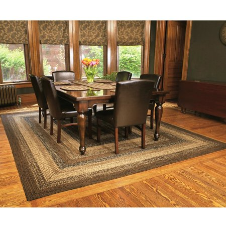 Country Style Braided Jute Rug Rectangle Area Accent Floor