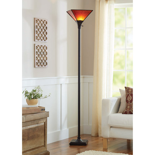 Better Homes and Gardens Mica Floor Lamp, Bronze