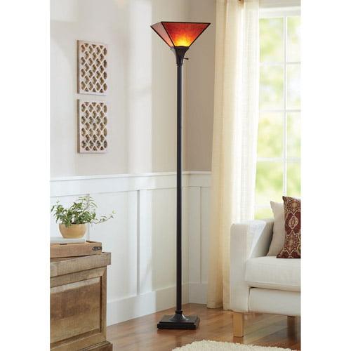 Better Homes and Gardens Mica Floor Lamp, Bronze