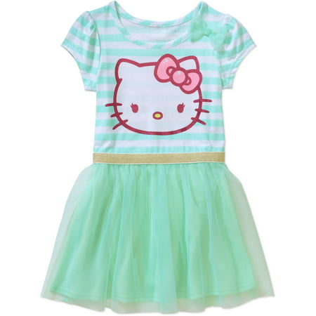 287b53345 Hello Kitty - Toddler Girl Classic Tshirt 2fer Tutu Dress - Walmart.com