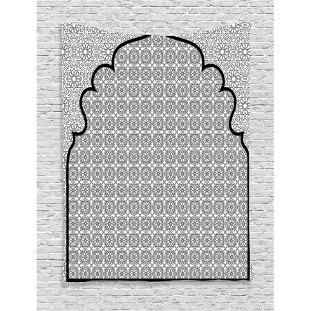Moroccan Decor Wall Hanging Tapestry Arabian Art Background With A Group Of Traditional Turkish Ottoman Forms And Patterns Bedroom Living Room Dorm
